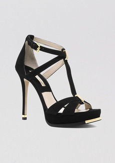 Michael Kors Open Toe Platform Sandals - Leandra High Heel