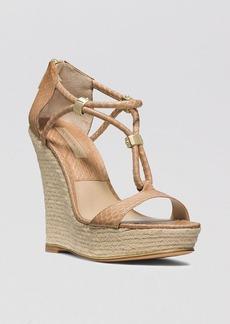 Michael Kors Open Toe Platform Wedge Sandals - Sherie