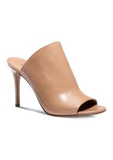 Michael Kors Open Toe Slide Sandals - Burnett High Heel
