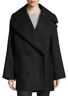 Michael Kors Oversized Pea Coat, Black