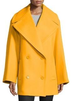 Michael Kors Oversized Pea Coat, Taxicab