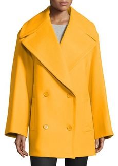 Michael Kors Oversized Pea Coat, Taxicab