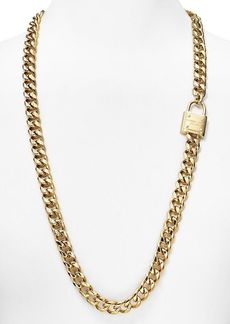 Michael Kors Padlock Long Chain Necklace, 32""