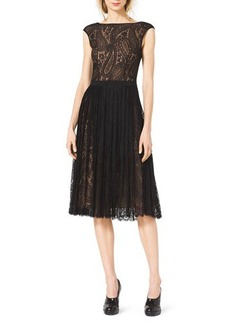 Michael Kors Paisley-Lace A-Line Dress