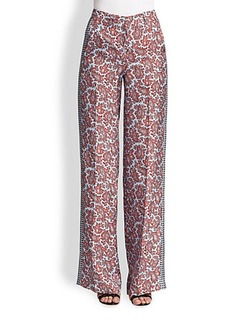 Michael Kors Paisley-Print Silk Pants
