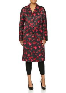 Michael Kors Pansy Duchesse Coat, Rose/Black