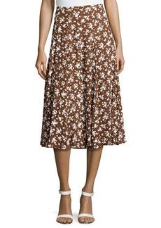 Michael Kors Pansy-Print Dance Skirt