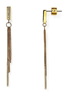 Michael Kors Pavé Curb Chain Post Earrings