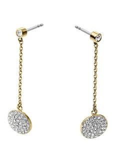 Michael Kors Pavé Disc Drop Earrings