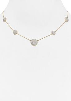 """Michael Kors Pavé Disc Station Necklace, 18""""L"""