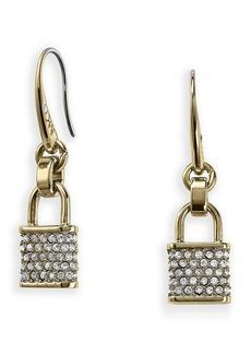 Michael Kors Pavé Padlock Charm Fishwire Earrings