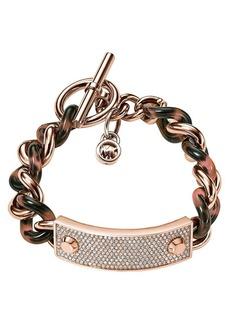 Michael Kors Pavé Plaque Curb Chain Toggle Bracelet