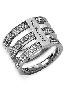 Michael Kors Pavé Tri Stack Ring