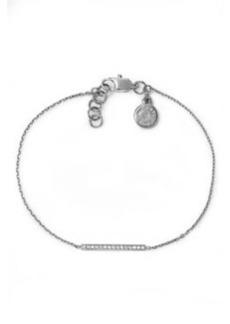 Michael Kors Pave Bar Delicate Bracelet, Silver Color