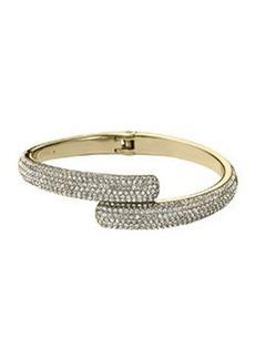 Michael Kors Pave Bypass Bracelet, Golden