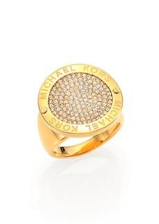 Michael Kors Pave Disc Logo Ring