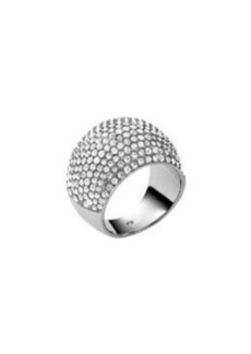Michael Kors Pave Dome Ring, Silver Color