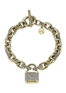 Michael Kors Pave Padlock Bracelet, Golden