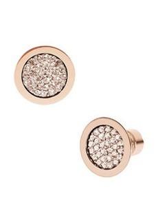 Michael Kors Pave Stud Earrings, Rose Golden
