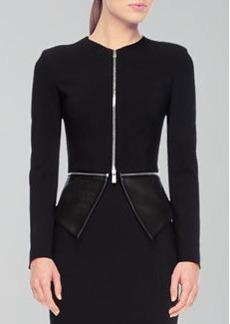 Michael Kors Pebble Crepe Zip Jacket