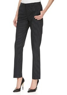 Michael Kors Pinstriped Straight-Leg Slim Pants