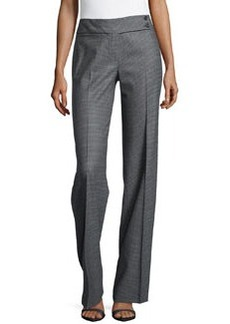 Michael Kors Plaid Flare Trousers, Graphite