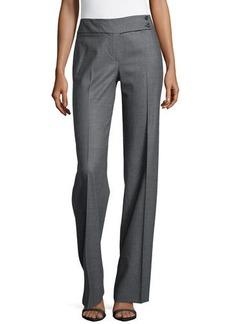 Michael Kors Plaid Flare Trousers, Graphite