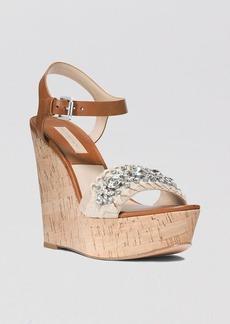 Michael Kors Platform Wedge Sandals - Anastasia Embellished