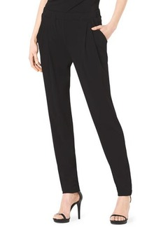 Michael Kors Pleat-Front Stretch-Jersey Pants