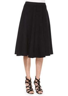 Michael Kors Pleated A-Line Skirt, Black