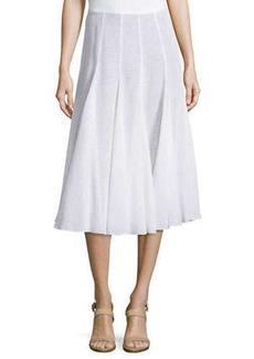 Michael Kors Pleated Dance Skirt, Optic White