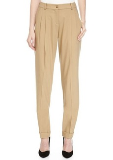 Michael Kors Pleated-Front Trousers, Fawn