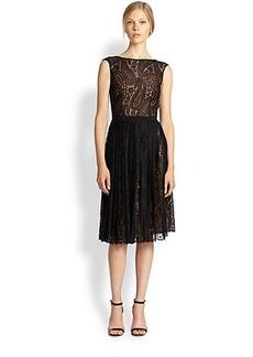 Michael Kors Pleated Lace Dress