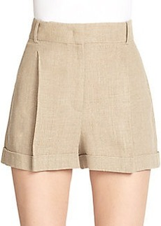 Michael Kors Pleated Linen Shorts
