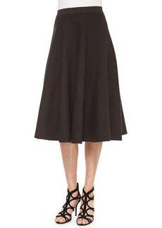 Michael Kors Pleated Midi Skirt, Chocolate