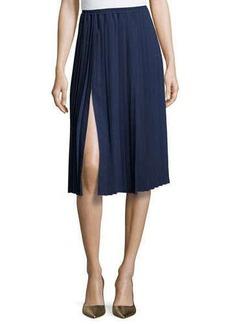 Michael Kors Pleated Midi Skirt, Indigo