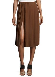 Michael Kors Pleated Midi Skirt, Nutmeg