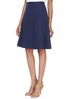 Michael Kors Pleated Poplin Skirt, Midnight
