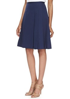 Michael Kors Pleated Poplin Skirt, Midnight