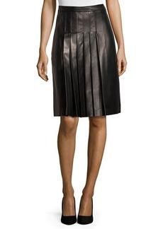 Michael Kors Pleated Skirt, Black