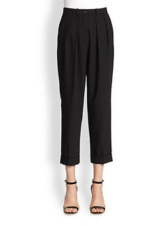 Michael Kors Pleated Stretch Wool Pants
