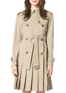 Michael Kors Pleated Trenchcoat Dress