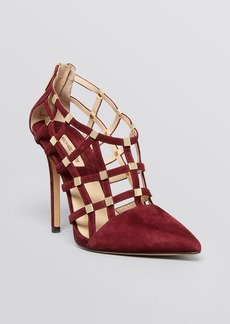 Michael Kors Pointed Toe Caged Pumps - Agnes High Heel
