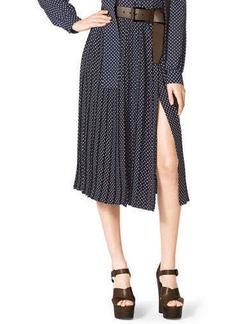 Michael Kors Polka-Dot Pleated Skirt