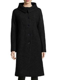 Michael Kors Poodle Balmacaan Boucle Coat, Black