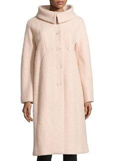 Michael Kors Poodle Balmacaan Boucle Coat, Nude