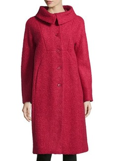Michael Kors Poodle Balmacaan Boucle Coat, Rose