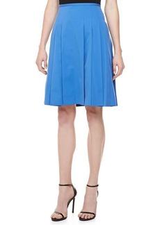 Michael Kors Poplin Pleated Skirt