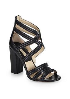 Michael Kors Preston Leather Gladiator Sandals