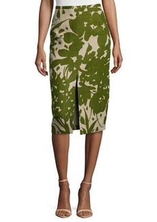 Michael Kors Printed Front-Slit Pencil Skirt